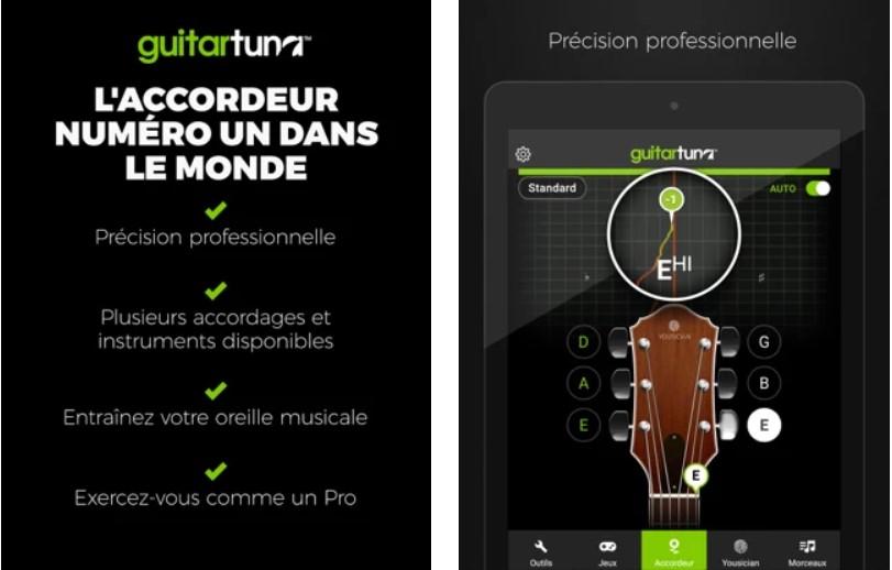 Accordeur Guitares -GuitarTuna